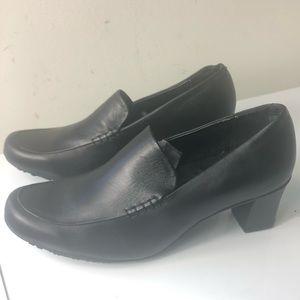Shoes For Crews Black Label Leather Upper 8 Black